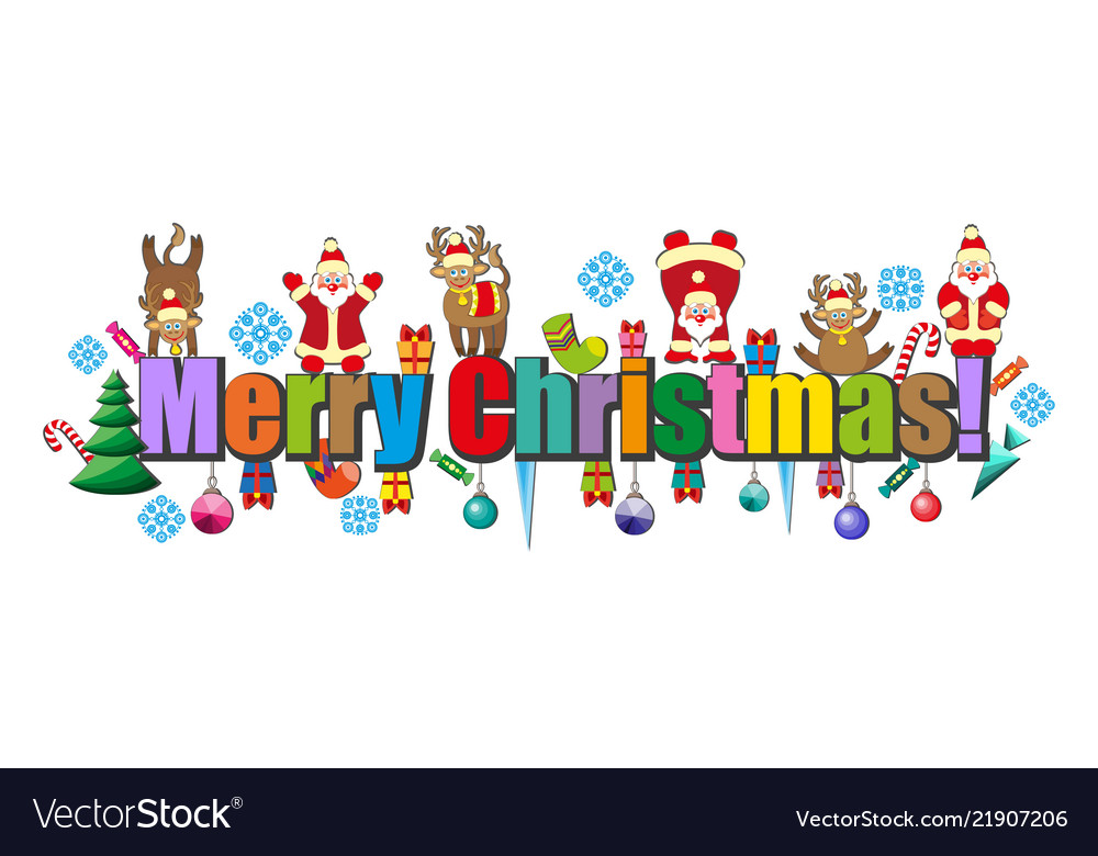 Merry christmas happy christmas of letters merry