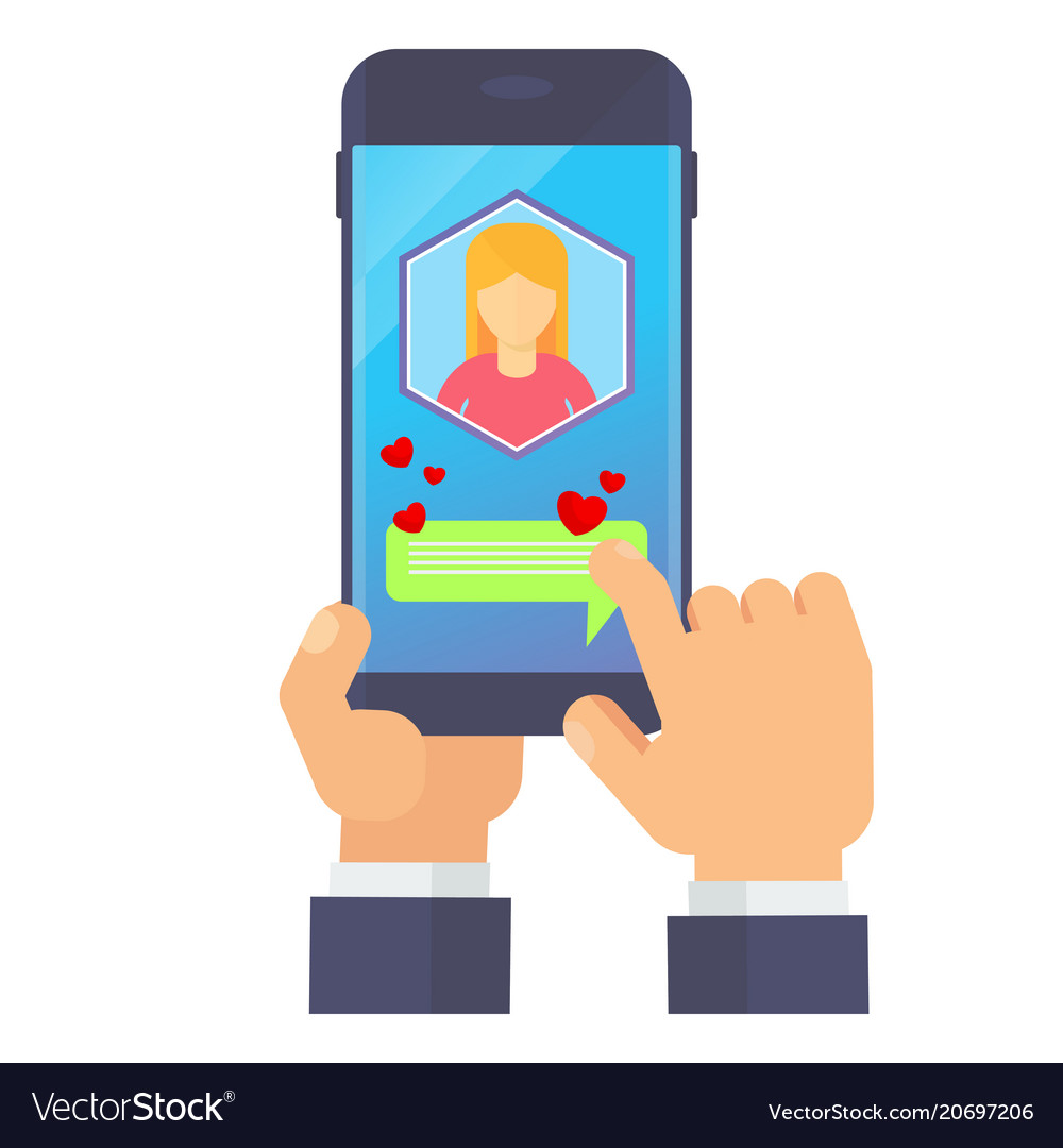 Smartphone with love messenge vector image