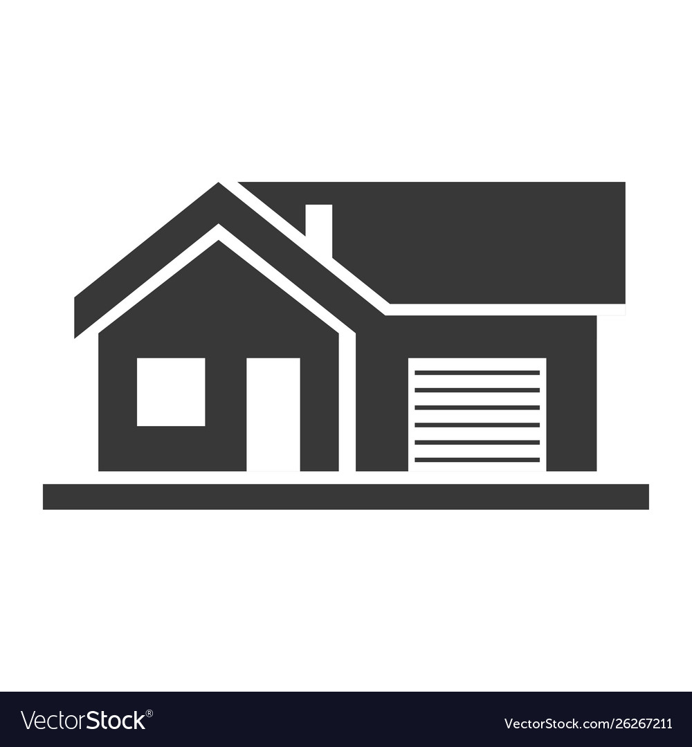 Apartment house home and architecture black icon