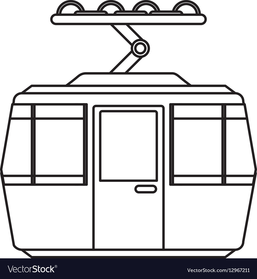 Cableway transport isolated icon