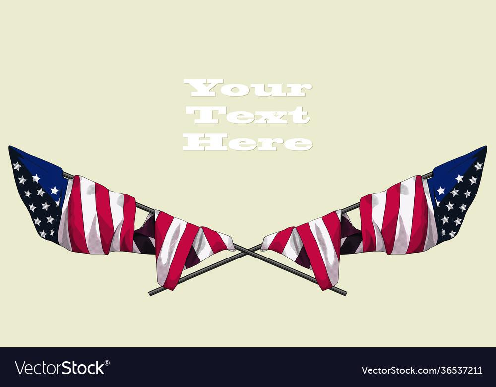 Crossed usa flag