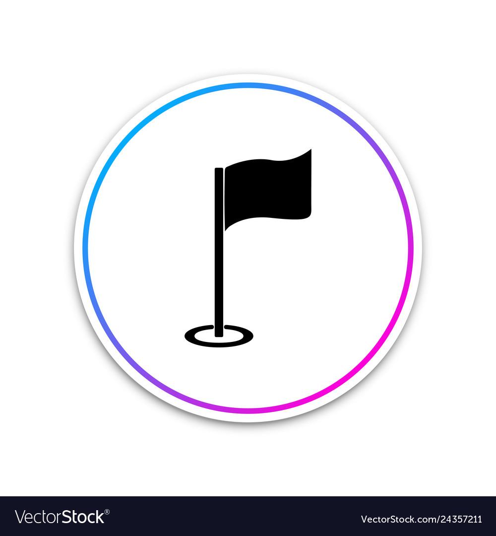 Golf flag icon golf equipment or accessory