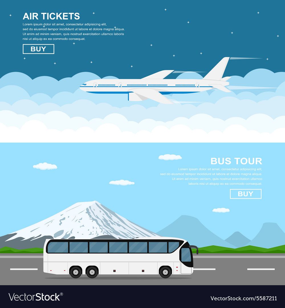 Plain and bus