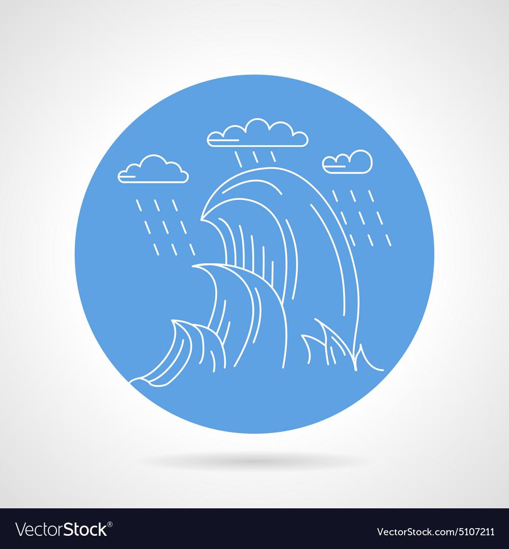 Sea waves blue icon