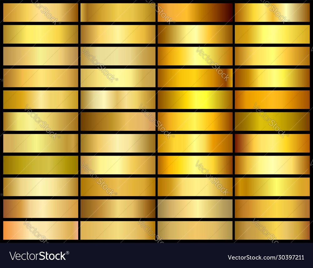Set 33 unique gold gradient backgrounds