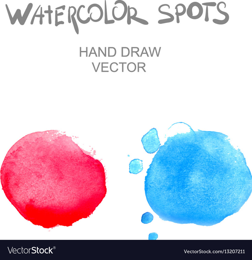 Watercolor spots vector image