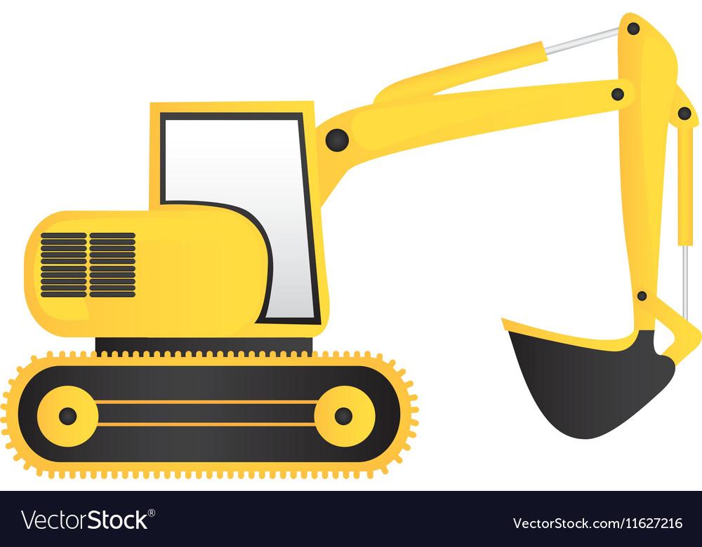 Backhoe machine icon image