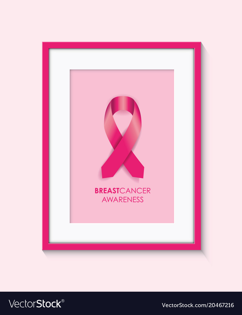 Breast Cancer Awareness Frame Royalty Free Vector Image