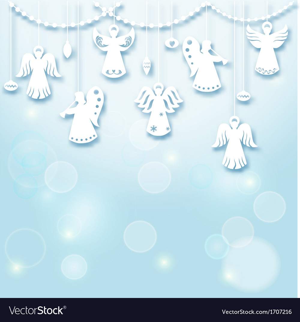 Angels Christmas Background.Christmas Background Angels