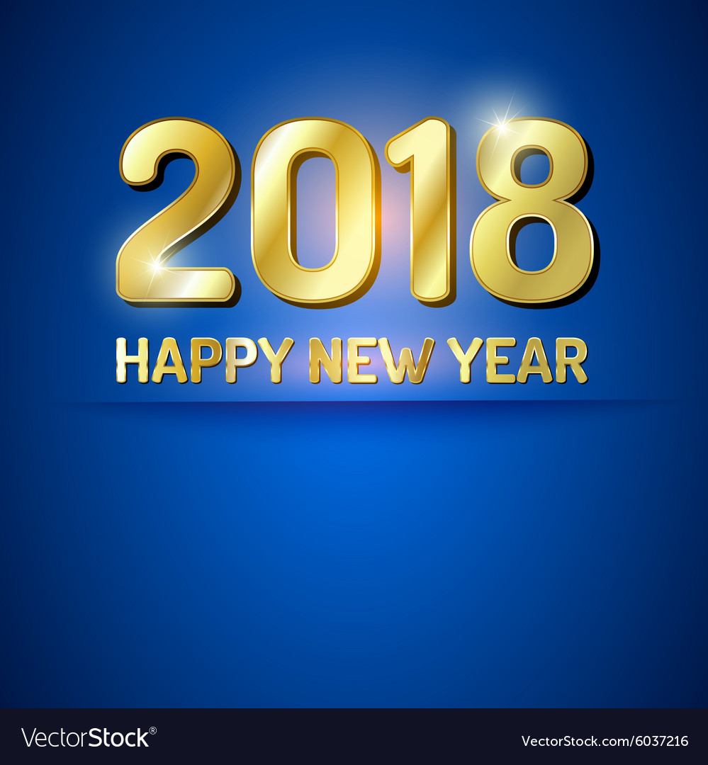 Happy New Year 2018 Greetings Card Royalty Free Vector Image