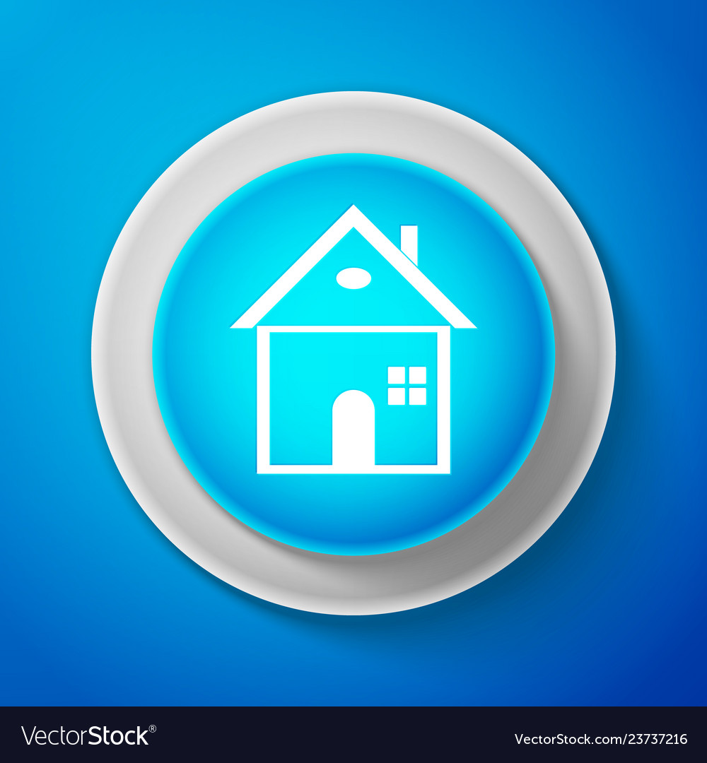 House icon on blue background home symbol