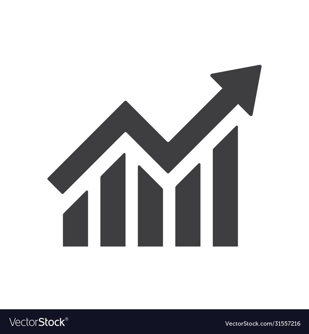 Profit growing icon isolated icon progress bar