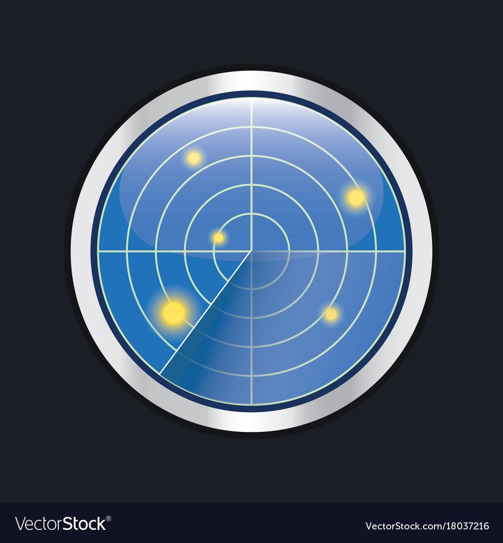 Radar screen hud interface element