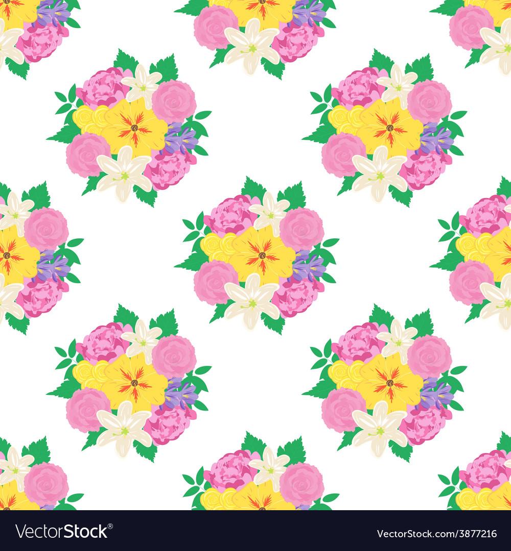 Seamless hand drawn flower pattern
