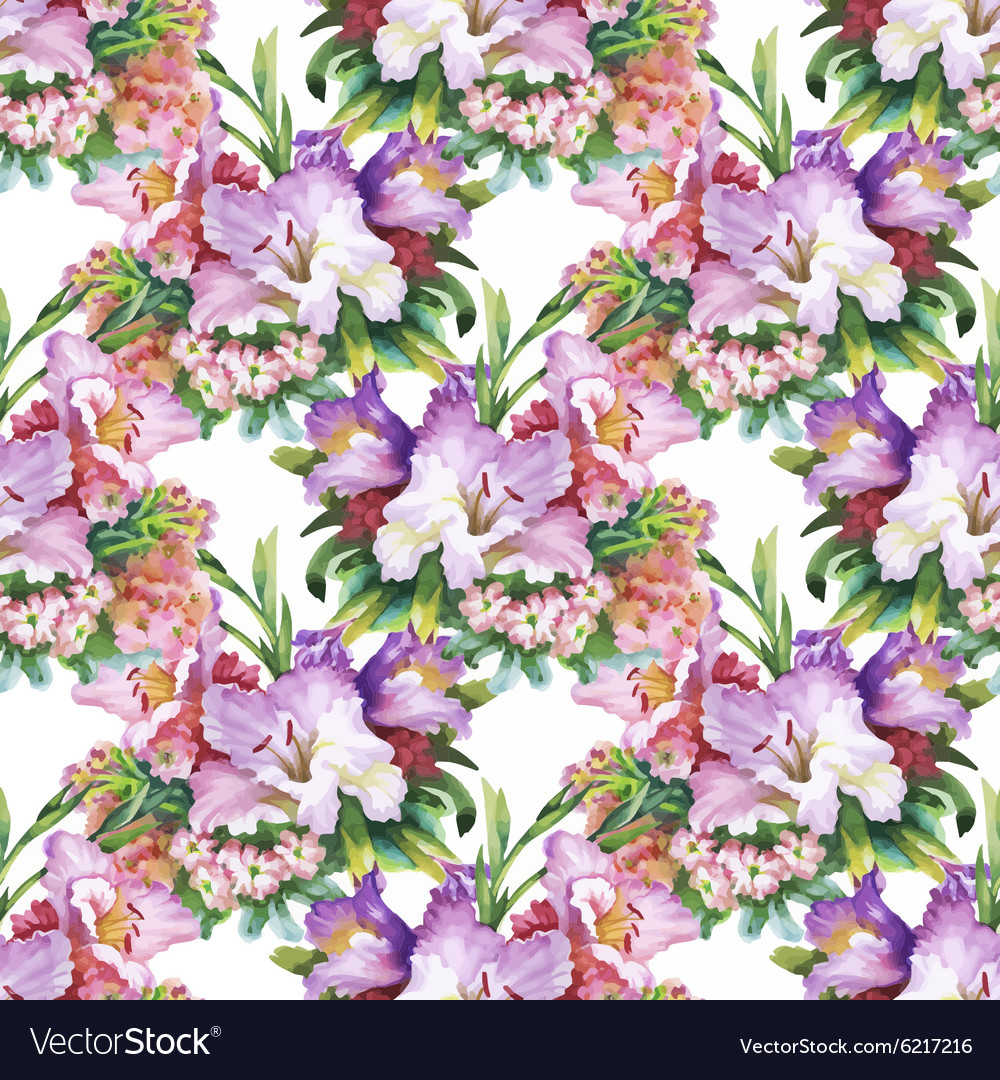 Seamless pattern with Beautiful flowers