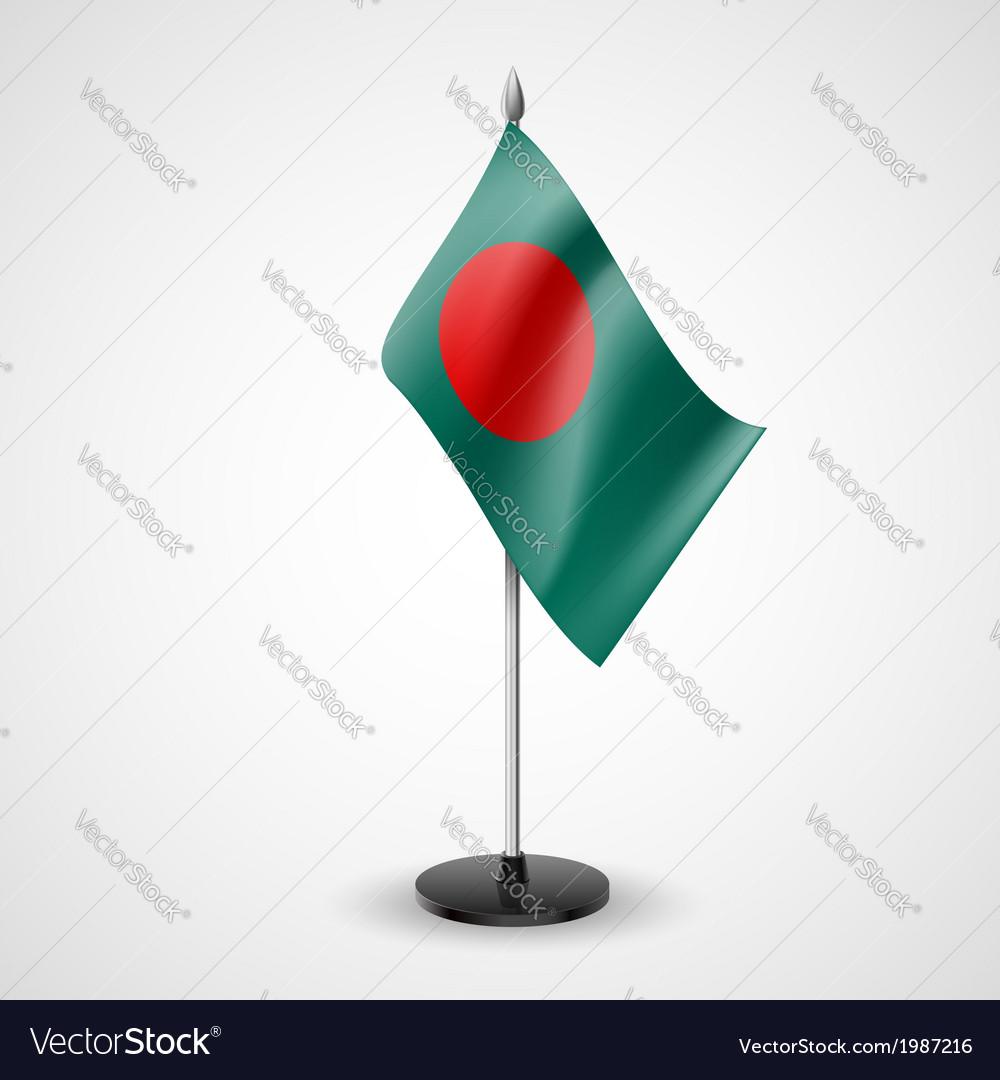 Table flag of Bangladesh vector image