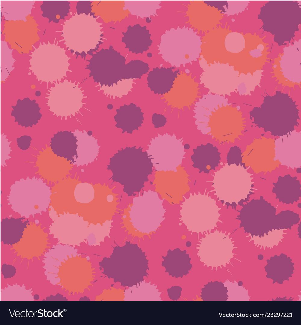 Blot living coral seamless pattern