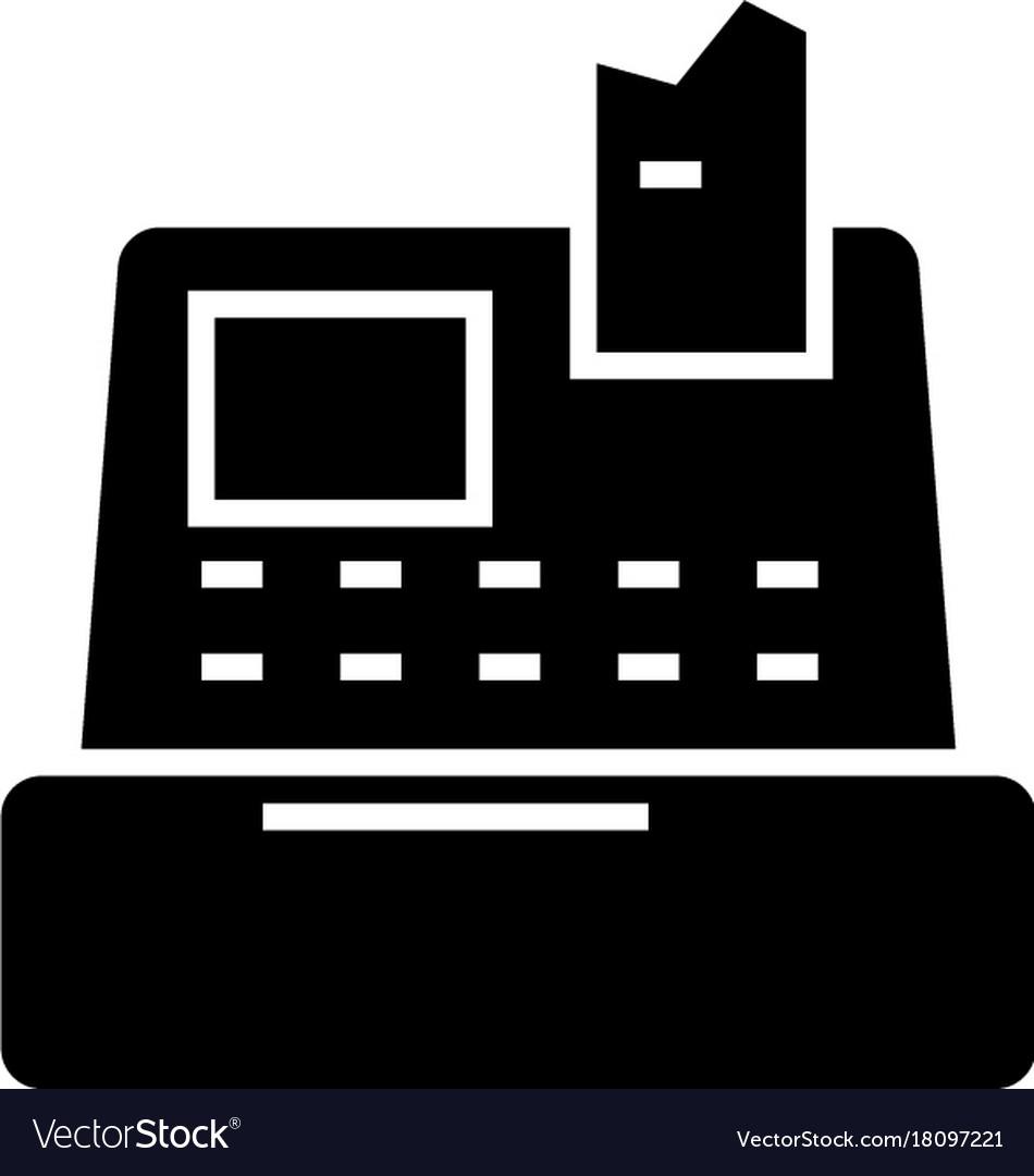 Cash Machine Shop Register Icon Royalty Free Vector Image