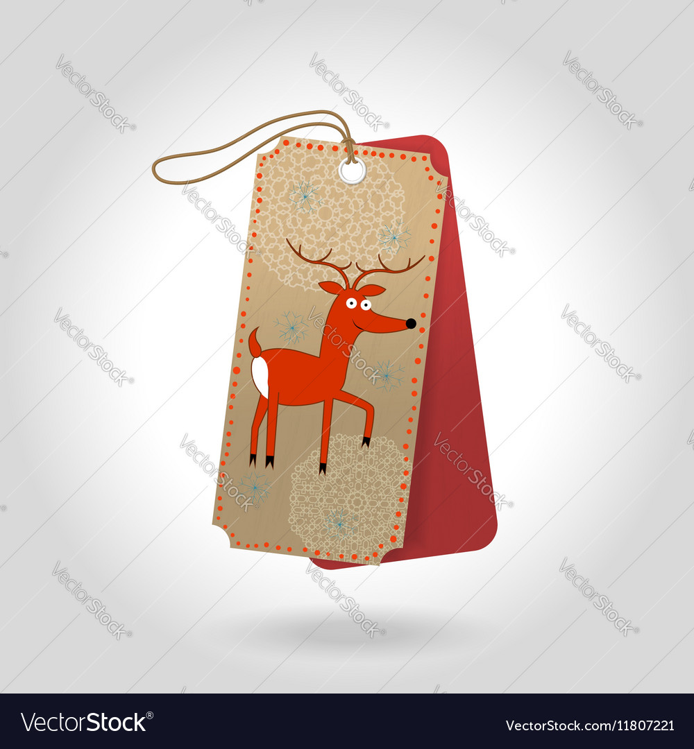 Cute Christmas gift tags with cheerful red