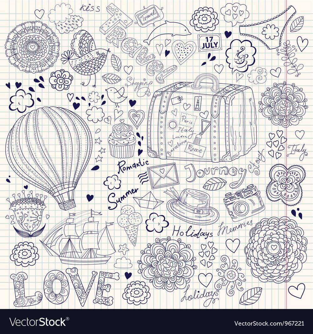 Decorative Doodle Background vector image