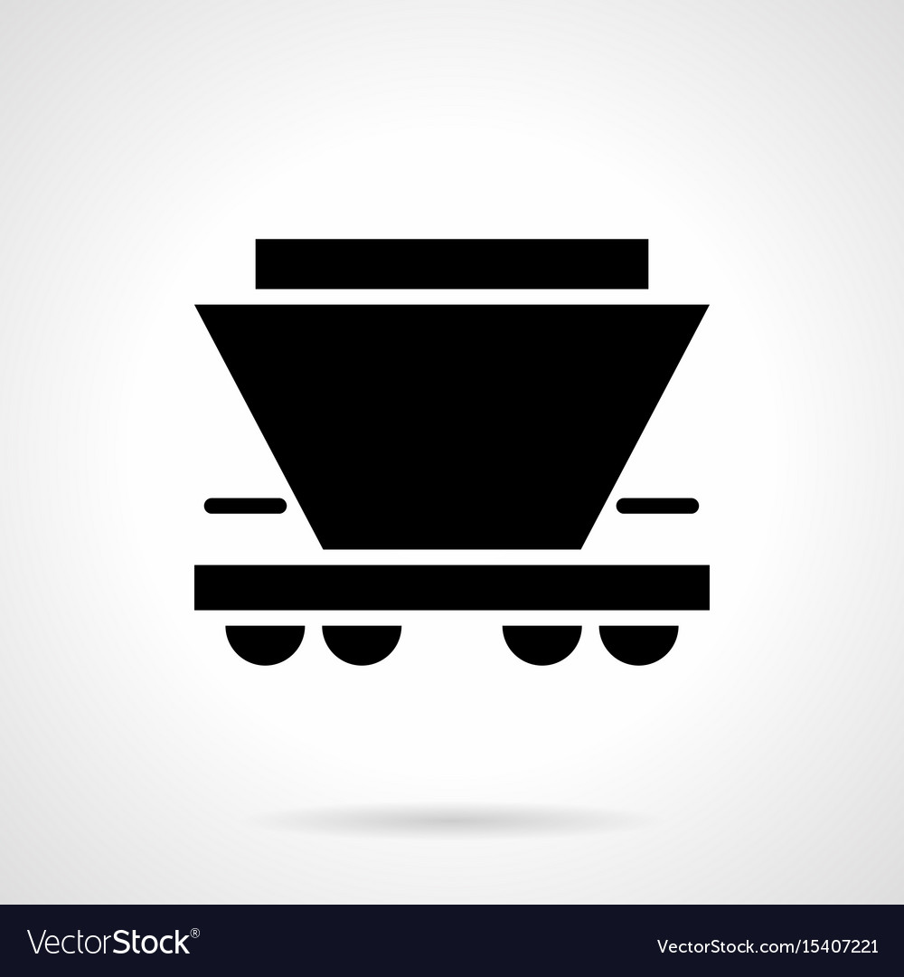 Freight rail car glyph style icon vector image