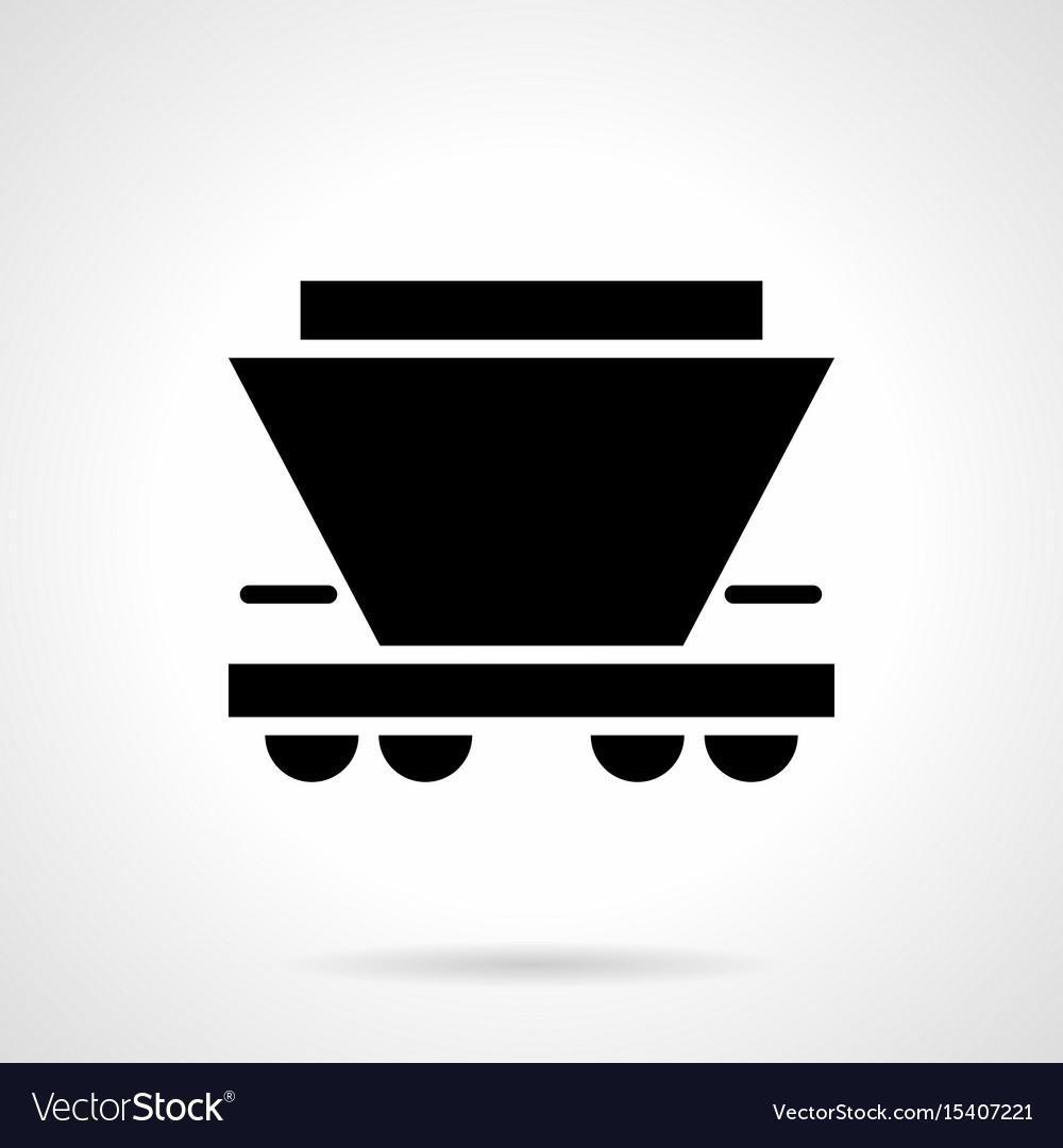 Freight rail car glyph style icon