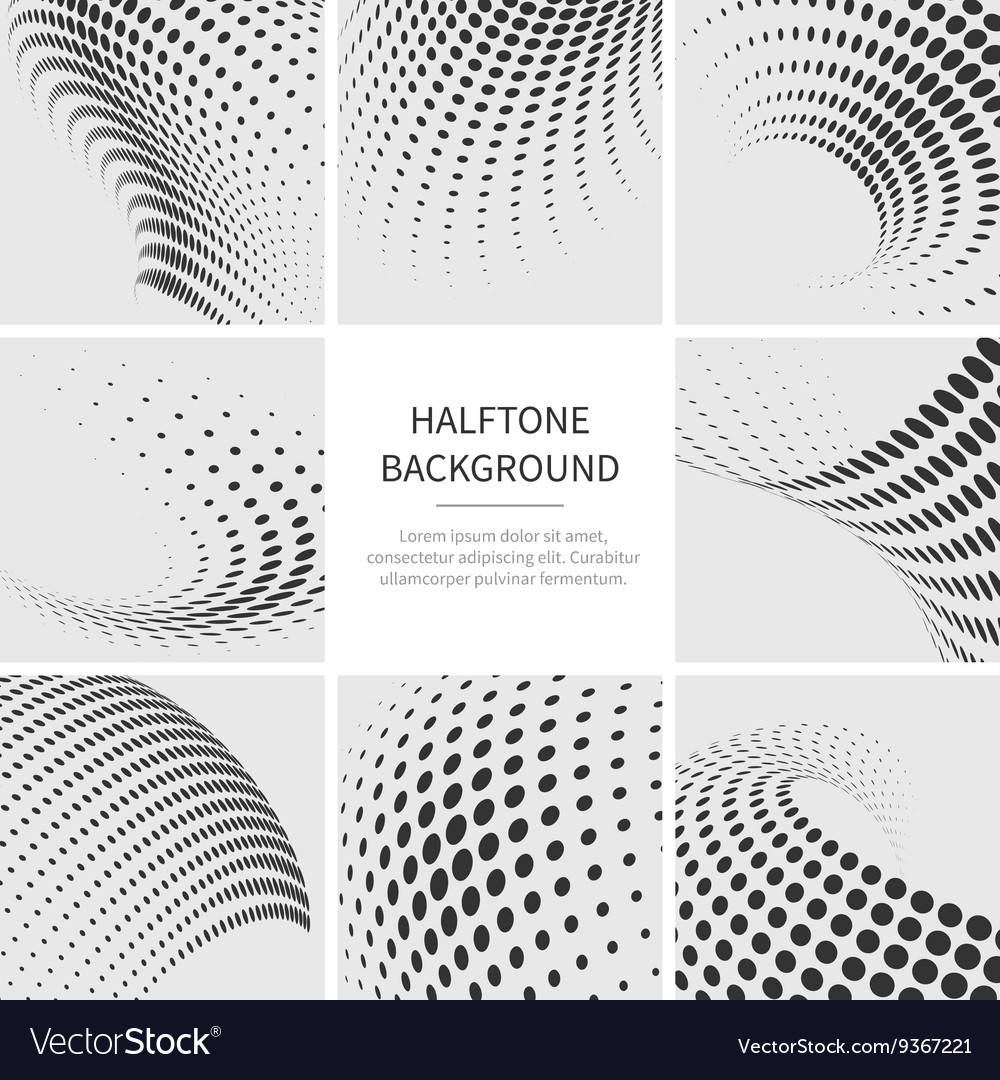 Grunge halftone dotted abstract backgrounds
