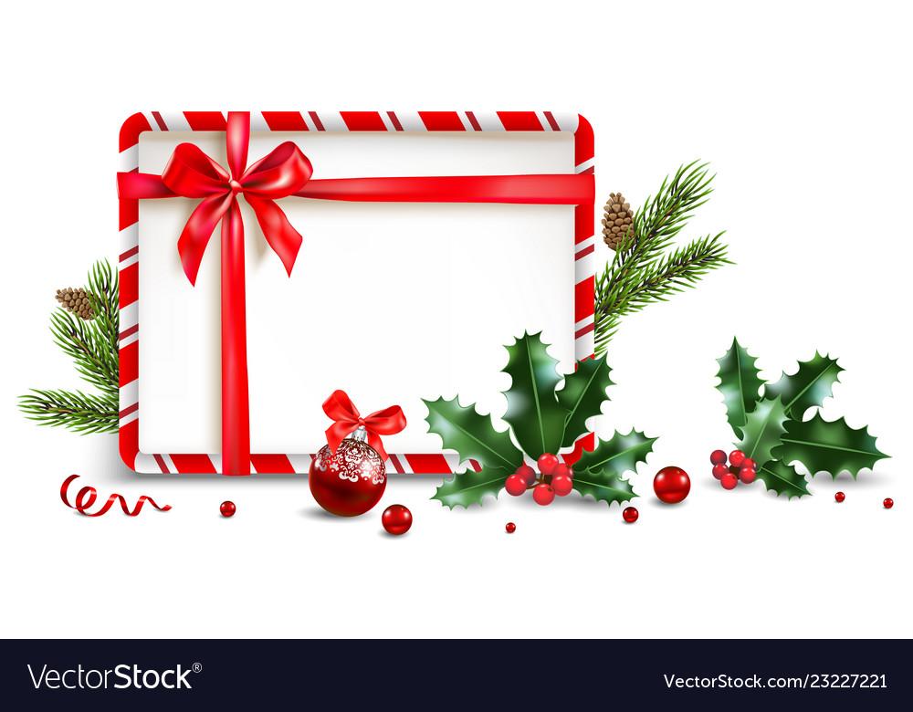 Holiday elements frame