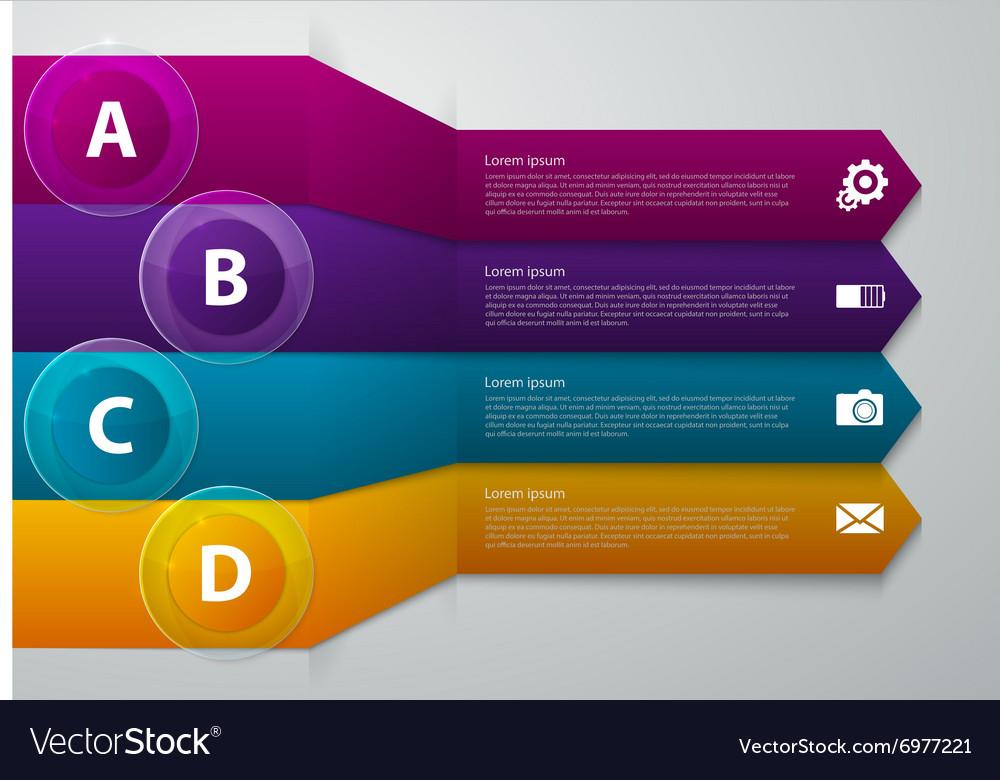 Infographics band arrow