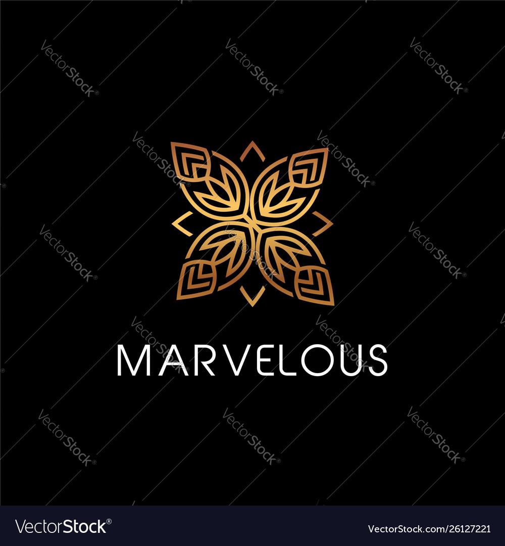 Luxury beauty floral elegant logo style sign