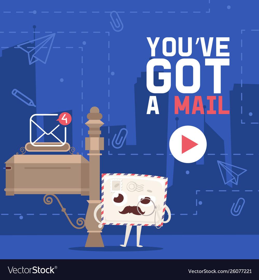 Mail box envelope landing page post mailbox