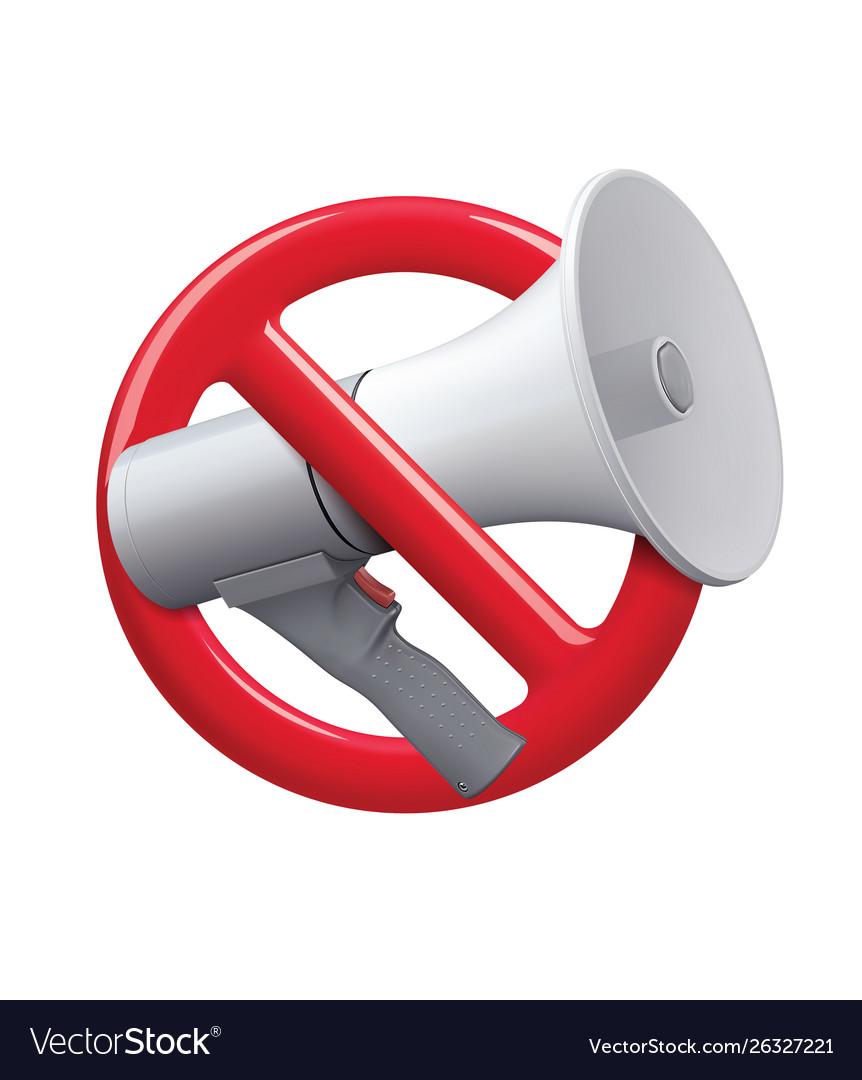 No audio icon sign no noise icon realistic 3d