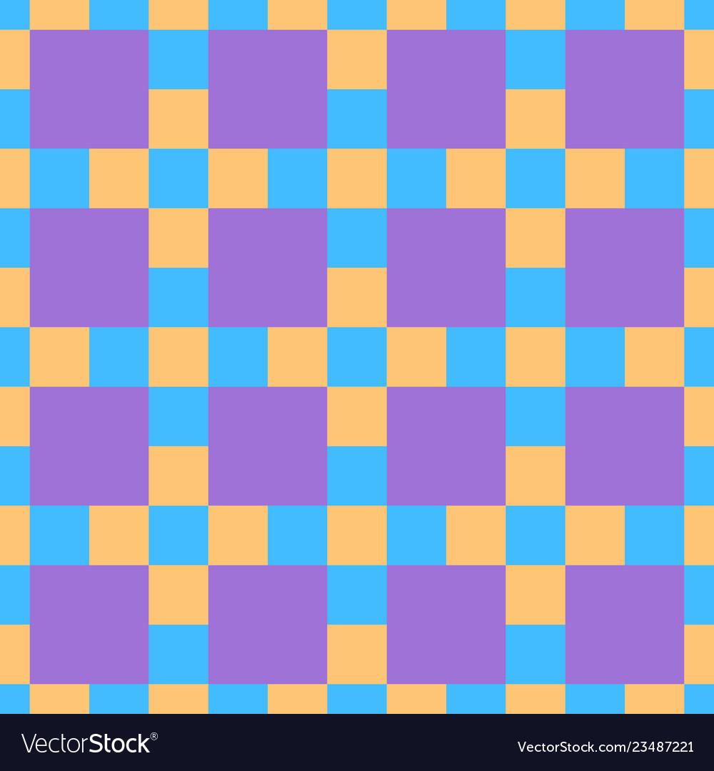 Seamless pattern imitating chessboard ornament