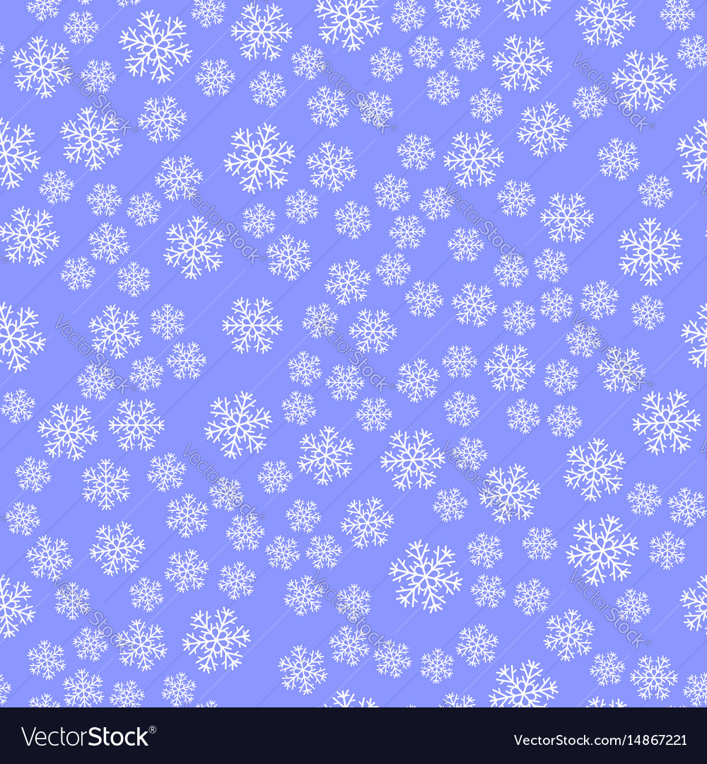 Show flakes seamless pattern