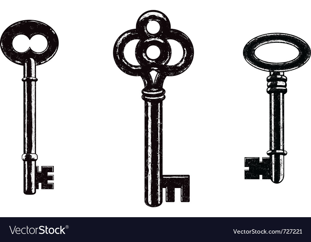 skeleton keys royalty free vector image vectorstock rh vectorstock com heart skeleton key vector old skeleton key vector