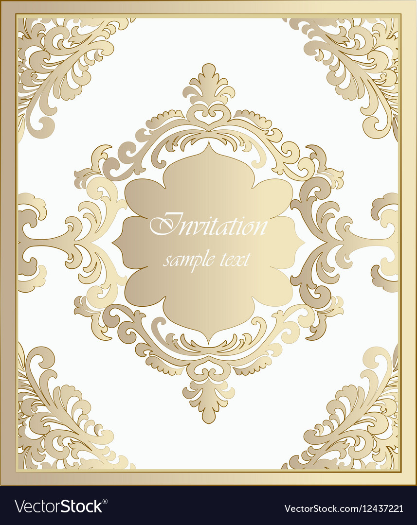 Vintage Classic Invitation card Imperial style