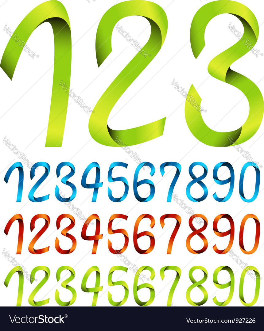 Color sets of ribbon numbers