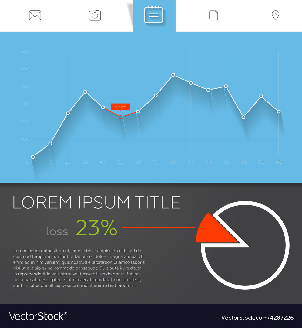 Detailed colorful infographic elements for web and