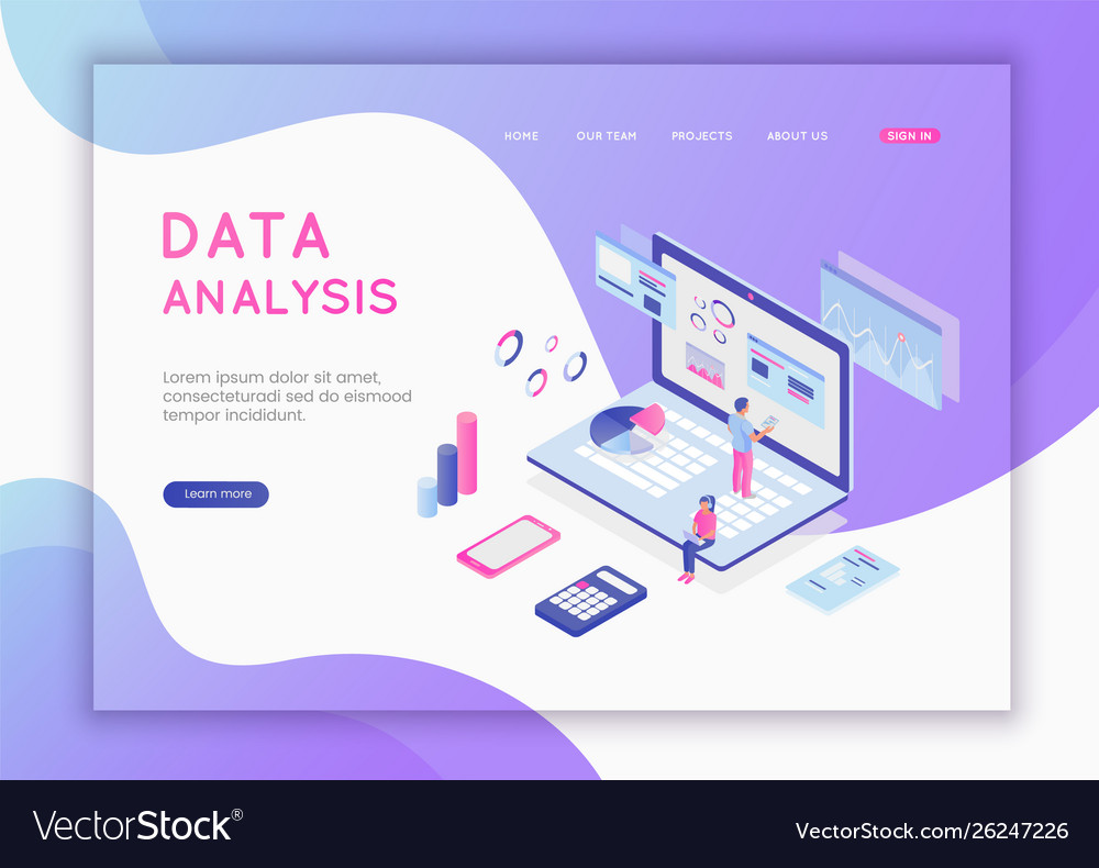 Modern flat design isometric concept data
