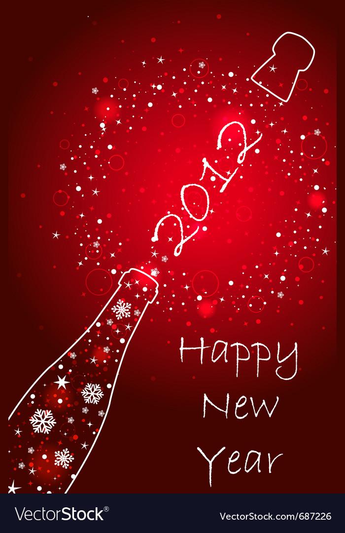 New year 2012 card