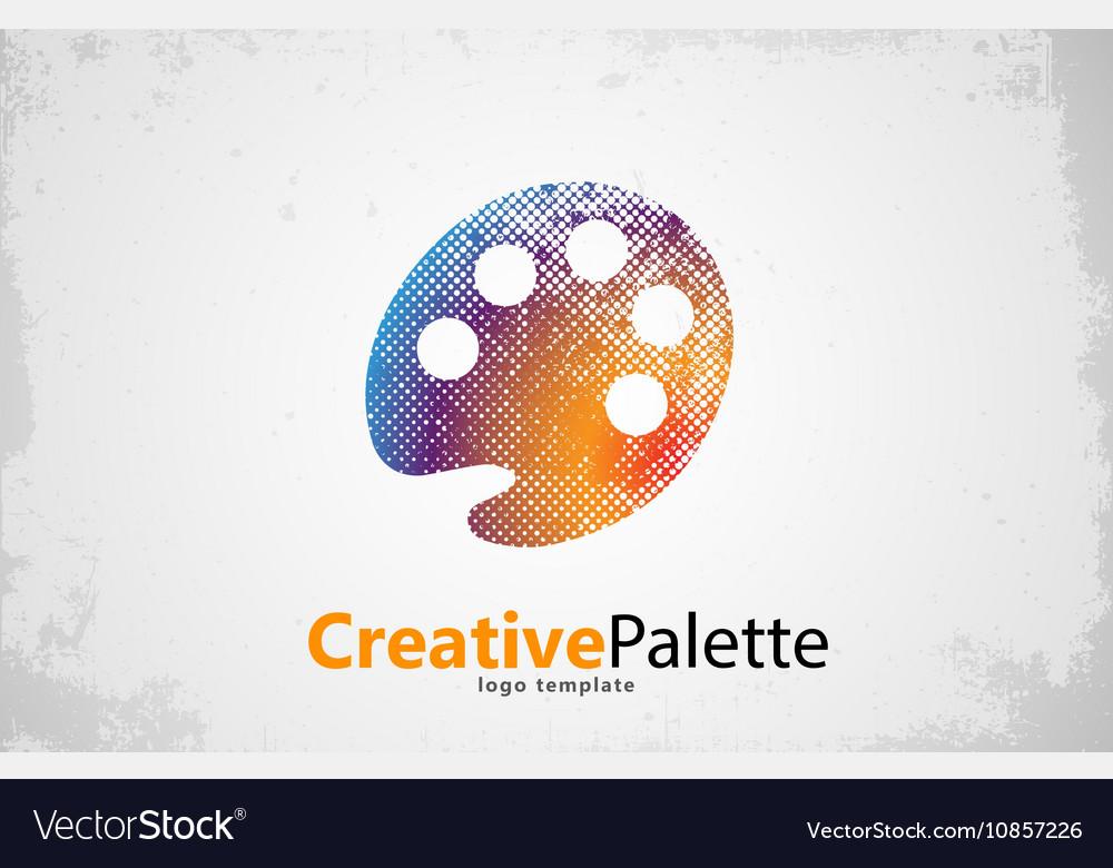 Palette Icon color palette symbol art logo vector image