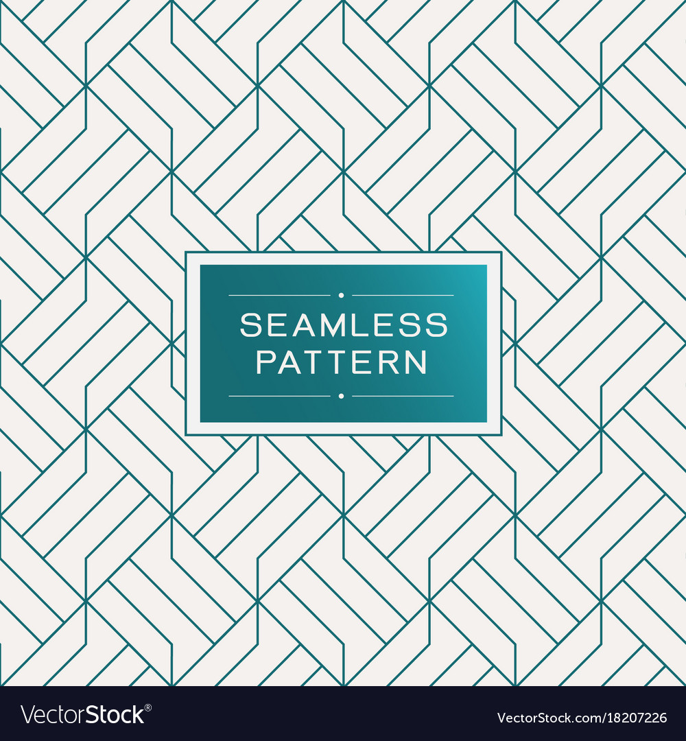 Retro seamless pattern with simple line geometric
