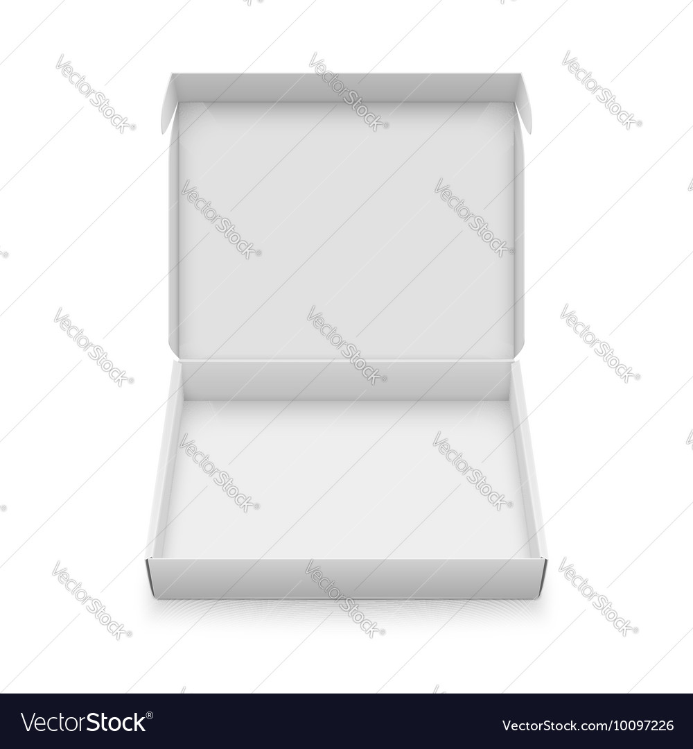 slim cardboard box template royalty free vector image