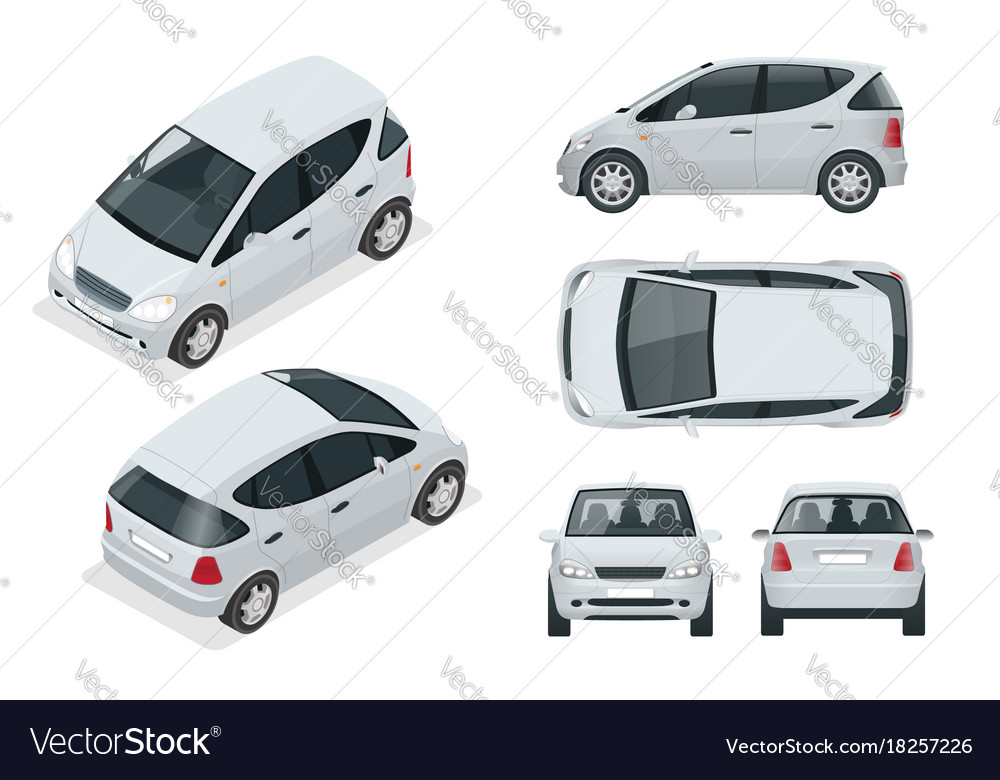 Small compact electric vehicle or hybrid car eco