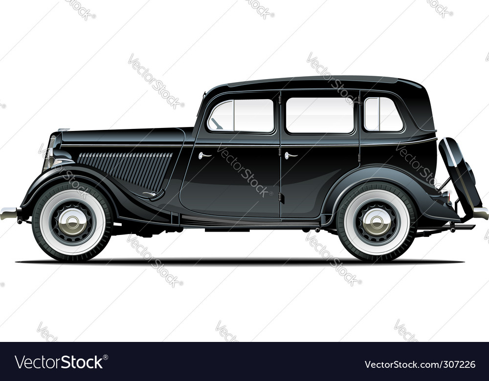 vintage car royalty free vector image vectorstock rh vectorstock com vintage car vector png antique car vector