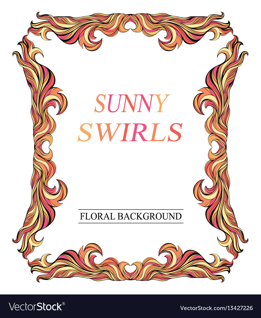 Vintage red sunny frame with place for text vector image
