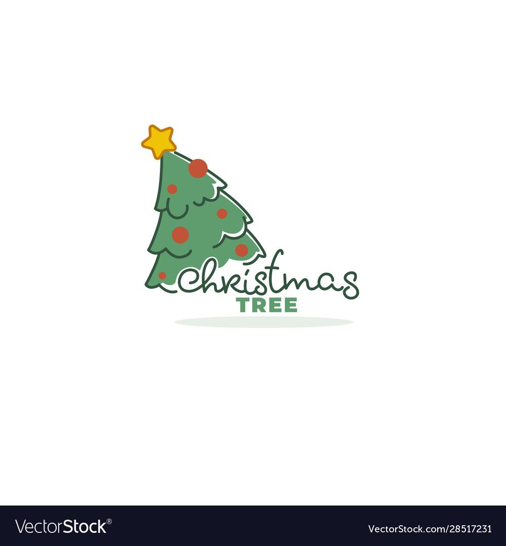 Christmas tree market logo template