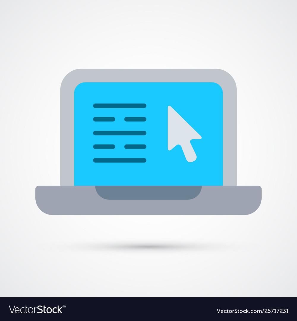 Colored laptop trendy symbol