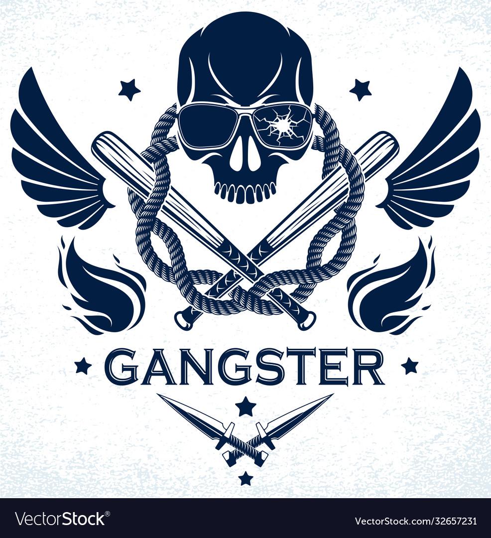 Gang brutal criminal emblem or logo