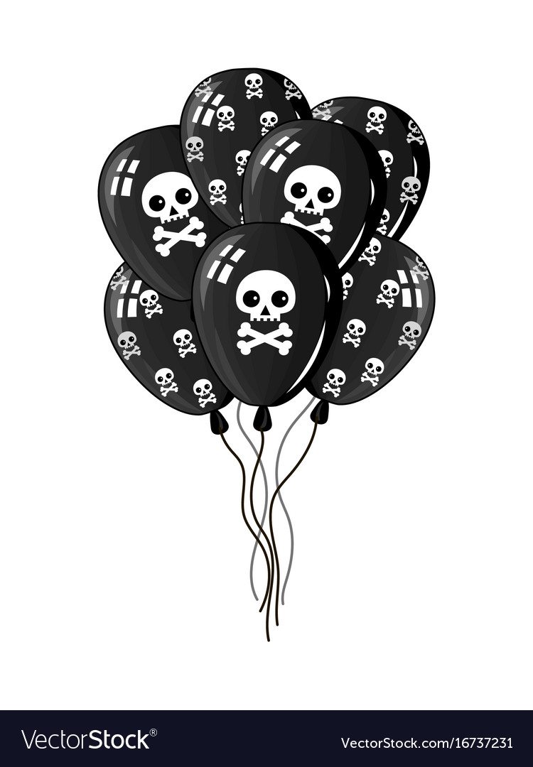 Pirate party air balloons icon vector image